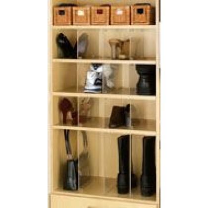 "13 1/2"" x 6 9/16"" Acrylic Shelf Organizers (10 pack)"