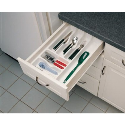 """14 1/4"""" Cutlery Tray (White)"""