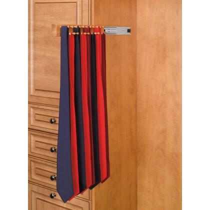 """12"""" Tie Rack (Natural Wood)"""