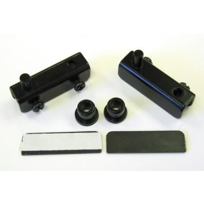 Inset 4-5mm Glass Door Hinge (Black)