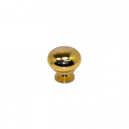 Knob (Polished Brass) - 1 1/4""