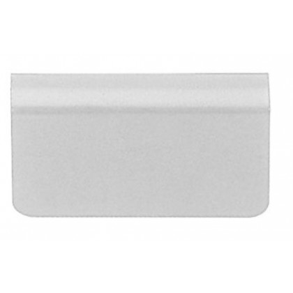 Glass Door Strike Plate w/ Adhesive Foam Pad (Chrome)