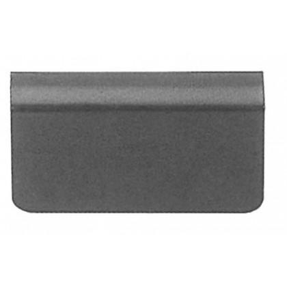 Glass Door Strike Plate w/ Adhesive Foam Pad (Black)