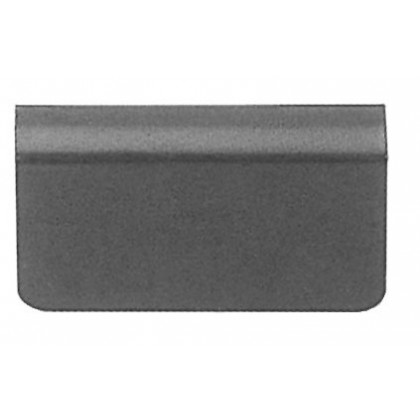 Glass Door Strike Plate W Adhesive Foam Pad Black 4 6mm