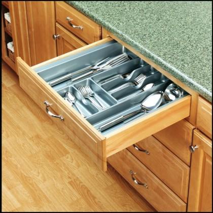 "21 7/8"" Cutlery Tray (Glossy Silver)"