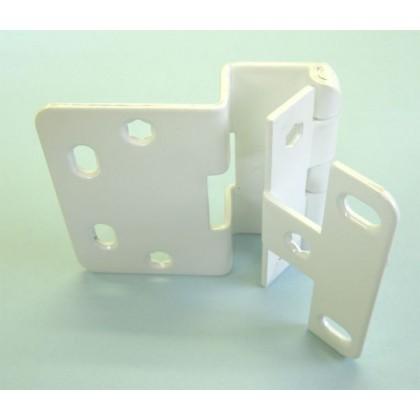 "Institutional Hinge for 3/4"" Door Panel (White Powder)"