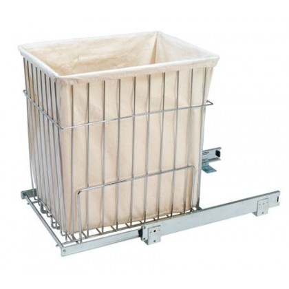 """14 3/4""""W x 18""""H Pull-Out Wire Hamper w/Liner"""