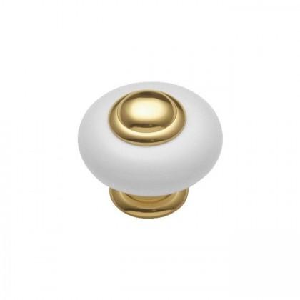 """Knob (Polished Brass) - 1-1/4"""""""