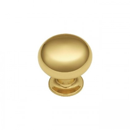 """Knob (Polished Brass) - 1-1/8"""""""