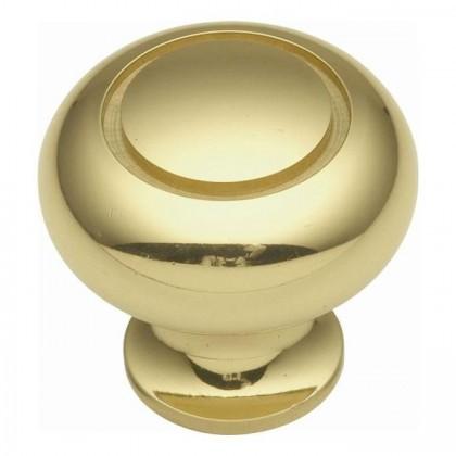 """Power Program Knob (Polished Brass) - 1 1/4"""""""