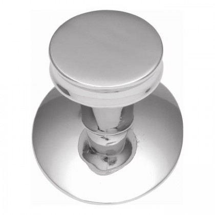 Metropolis Knob w/ Oval Base (Chrome) - 1""
