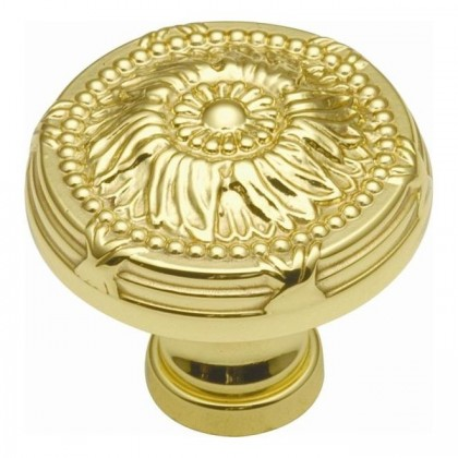 Ribbon & Reed Knob (Polished Brass) - 1 1/4""