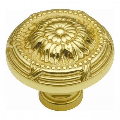 "Ribbon & Reed Knob (Polished Brass) - 1 1/2"""