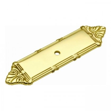 "Ribbon & Reed Backplate (Polished Brass) - 1"" x 4"""