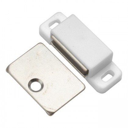 "Super-Magnetic Catch (White) - 1 3/4"" x 11/16"""