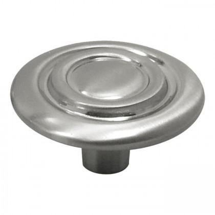 "Cavalier Knob (Satin Nickel) - 1-3/8"""