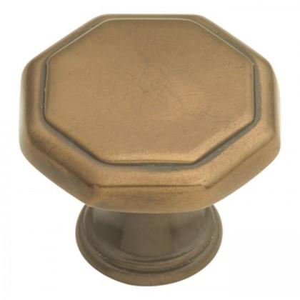 """Conquest Octagonal Knob (Venetian Bronze) - 1 1/4"""""""
