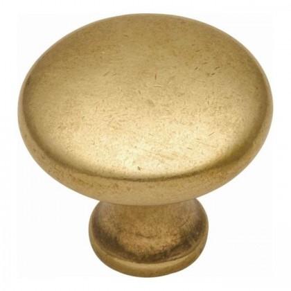 "Conquest Knob (Luster Brass) - 1-1/8"""