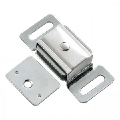 """Magnetic Catch w/ Metal Case (Cadmium) - 2/3"""" x 2 1/4"""""""