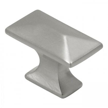 """Bungalow Knob (Satin Nickel)- 1 1/4"""""""