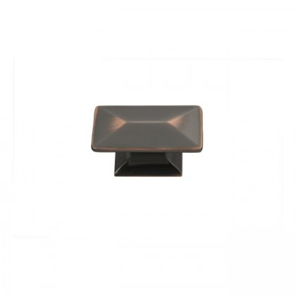 Bungalow Knob (Oil Rubbed Bronze Highlighted) - 1 3/4""