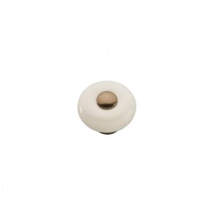 "Tranquility Knob (Venetian Bronze W/Light Almond) - 1 1/4"""