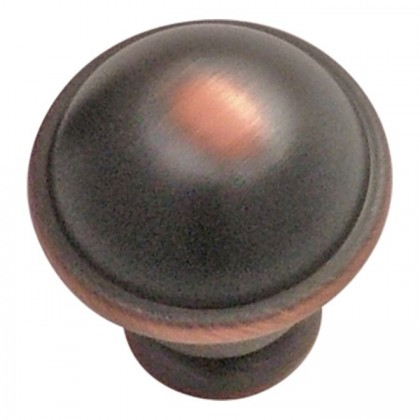 """Savoy Knob (Oil Rubbed Bronze Highlighted) - 1"""""""