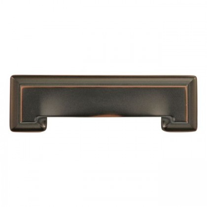 """Studio Cup Pull (Oil Rubbed Bronze Highlighted) - 3"""" or 96mm"""