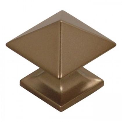 "Studio Square Knob (Venetian Bronze) - 1"""