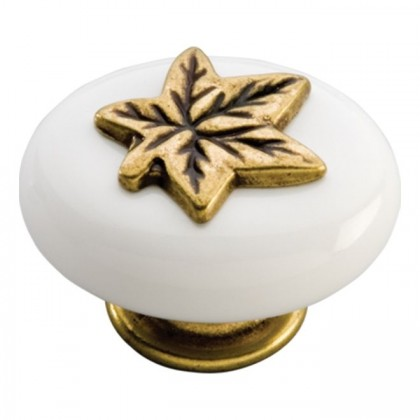 """Country Casual Knob (Lancaster Hand Polished with White) - 1 1/2"""""""