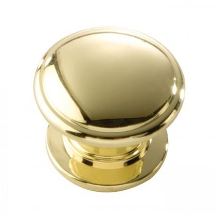 "Williamsburg Knob (Polished Brass) - 1-1/4"""