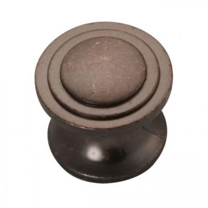 """Deco Knob (Dark Antique Copper) - 1-1/16"""""""