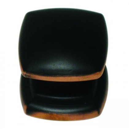 """Euro Contemporary Knob (Oil Rubbed Bronze HIghlighted) - 1-1/4"""""""