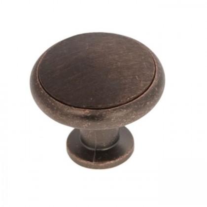 Knob (Dark Antique Copper and Dark Wood)