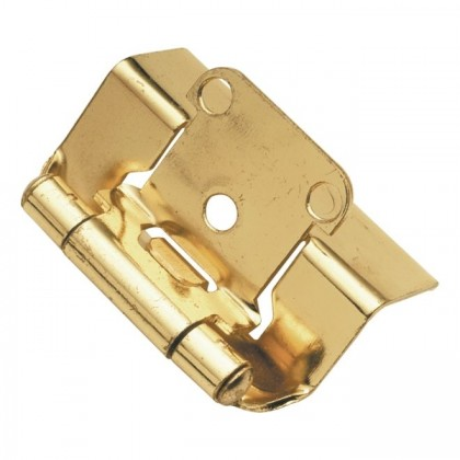 """Face Frame Hinge (Polished Brass) - 1/2"""" Overlay"""