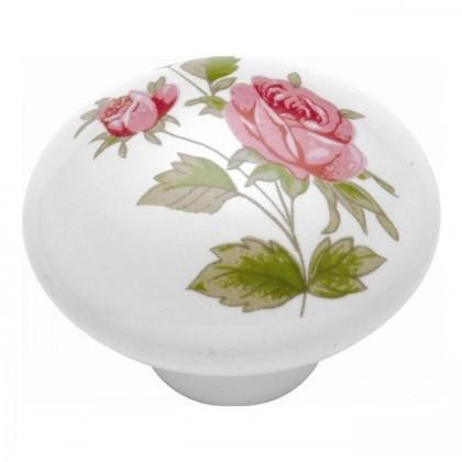 "Tranquility Knob (Pink Rose) - 1 1/2"""