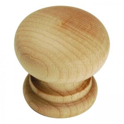 "Natural Woodcraft Knob (Unfinished Wood) - 1 1/4"""