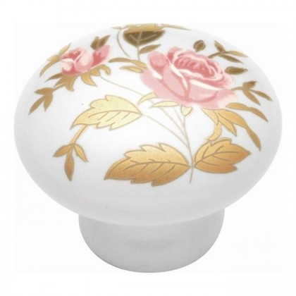 """English Cozy Knob (Gold Rose) - 1 1/2"""""""