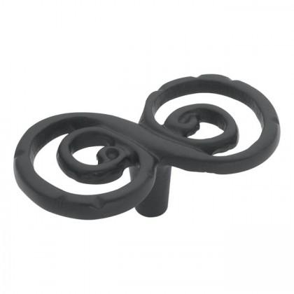 "Artifacts Scroll Knob (Black) - 2 5/8"""