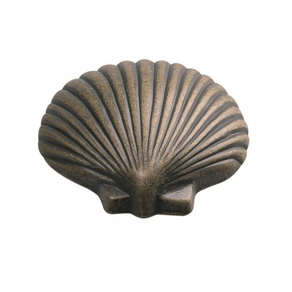 "South Seas Fanshell Knob (Antique Mist) - 1 1/2"""
