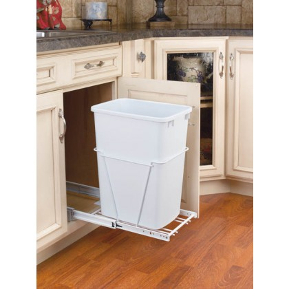 35 Qt. Waste Container (White)
