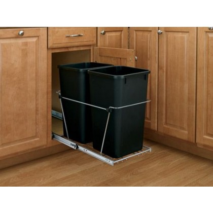 Double 27 Qt. Containers/Full-Extension Slides