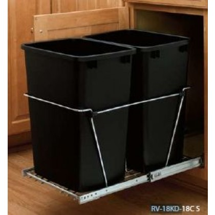 Double 35 Qt. Containers/Full-Extension Slides