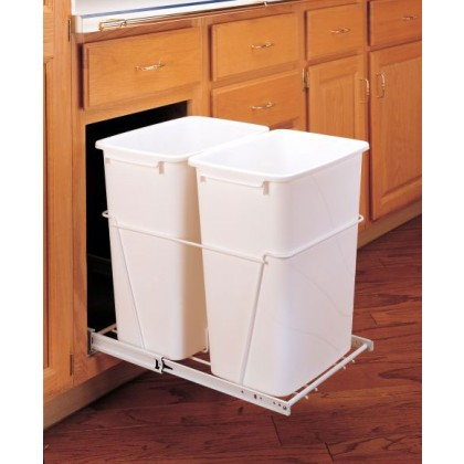 Double 35 Qt Waste Container