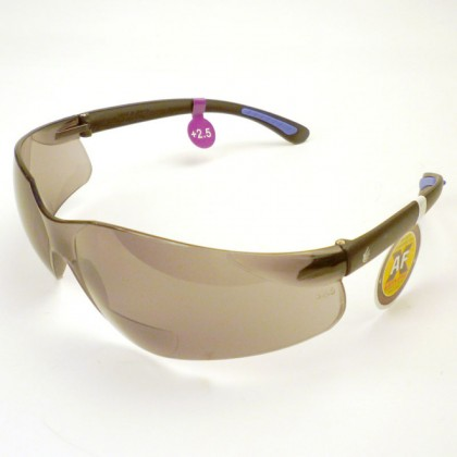 Tinted Safety Glasses (Anti Fog) - 2.5 Diop