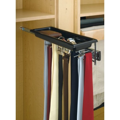 Tie/Belt Rack with Tray