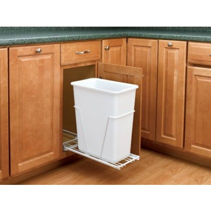 30 Qt. Pull-Out Waste Container w/ Euro Slides