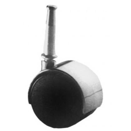 40mm Caster W/Hood & Stem Mount (Chrome)