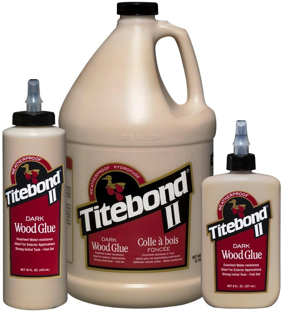 titebond ii dark wood glue 8 oz to 5 gallons franklin international