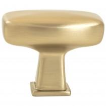 """Subtle Surge Knob (Modern Brushed Gold) - 1 9/16"""""""